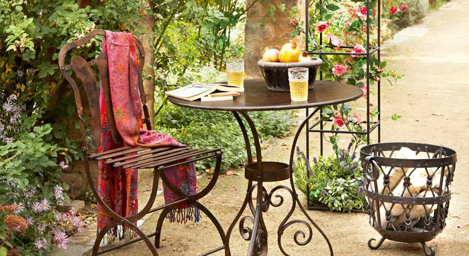 Table Dallon en Fer marron vieilli - Loberon