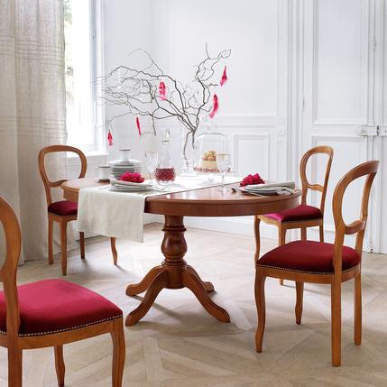 soldes table la maison de valerie table ronde allonge style louis philippe merisier. Black Bedroom Furniture Sets. Home Design Ideas