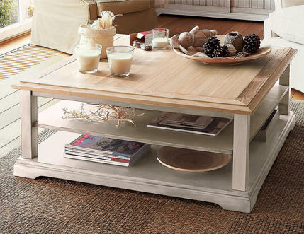 Table basse la maison de valerie table basse carr e berling ventes pas ch - Table basse en chene pas cher ...