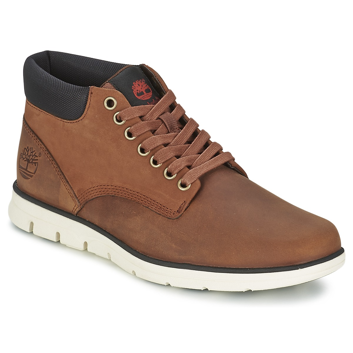 Timberland BRADSTREET CHUKKA LEATHER Baskets montantes Marron pour homme