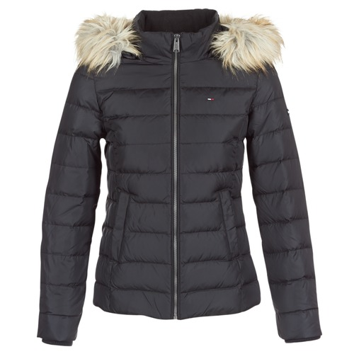 Tommy Jeans TJW ESSENTIAL HOODED DOWN JACKET Noir