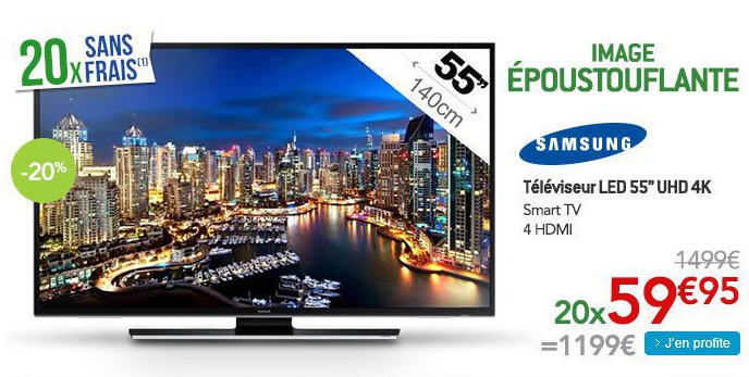 samsung ue55hu6900s t l viseur led tv led pas cher rue du commerce ventes pas. Black Bedroom Furniture Sets. Home Design Ideas