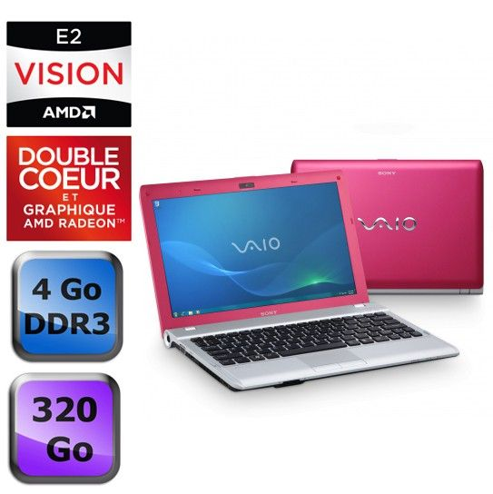 portable pas cher cdiscount sony vaio vpc yb2m1e g rose prix 449 75 euros ventes pas. Black Bedroom Furniture Sets. Home Design Ideas