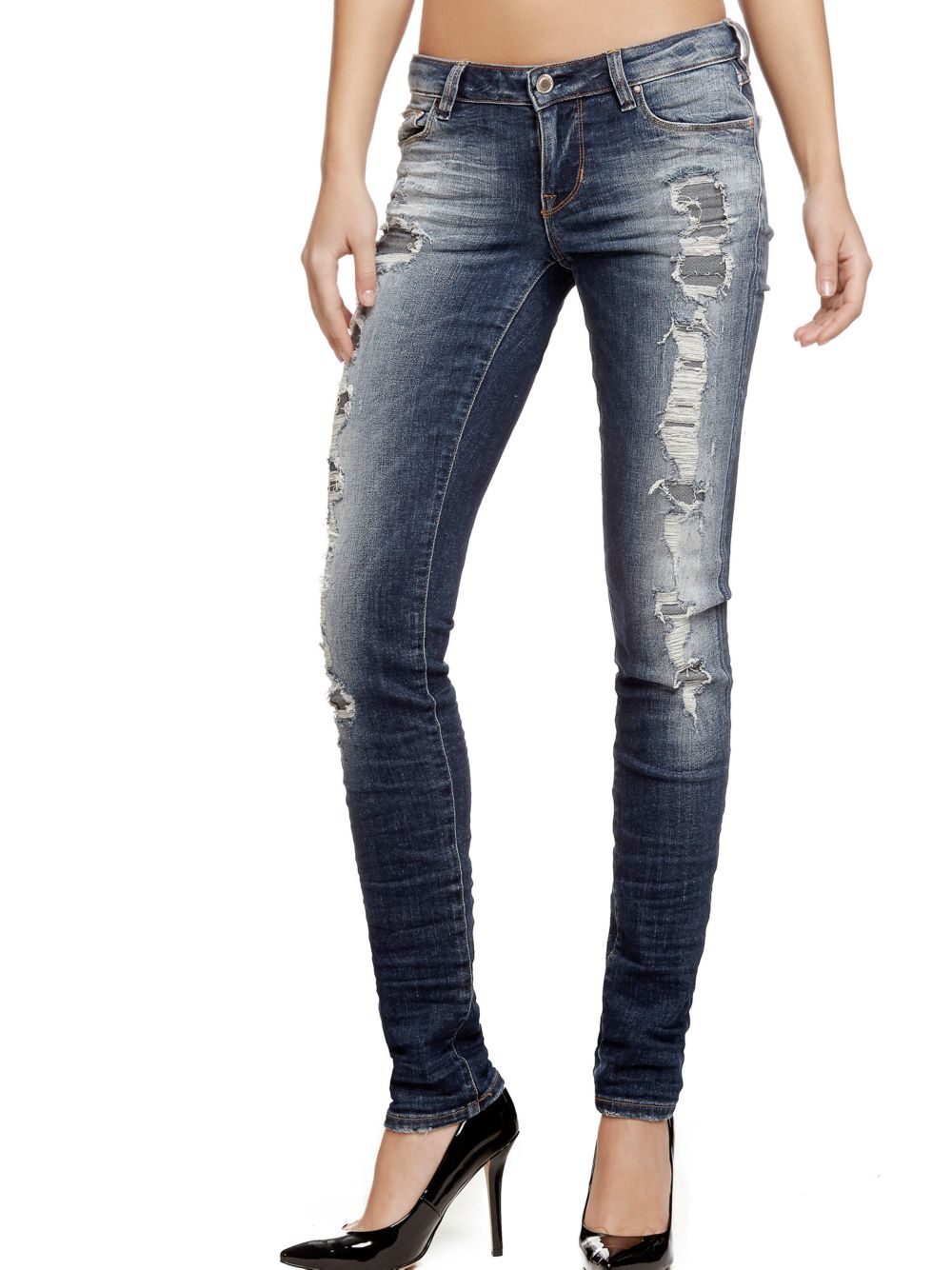 soldes jeans femme guess jean skinny abrasions guess ventes pas. Black Bedroom Furniture Sets. Home Design Ideas