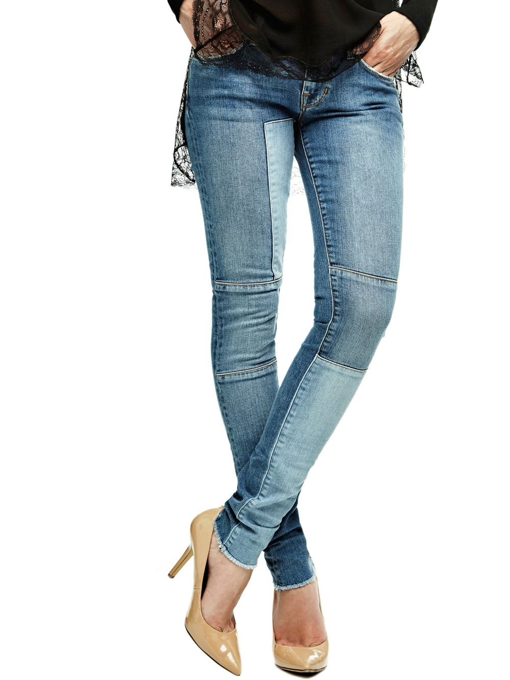 JEAN SKINNY A PIECES CONTRASTANTES Guess