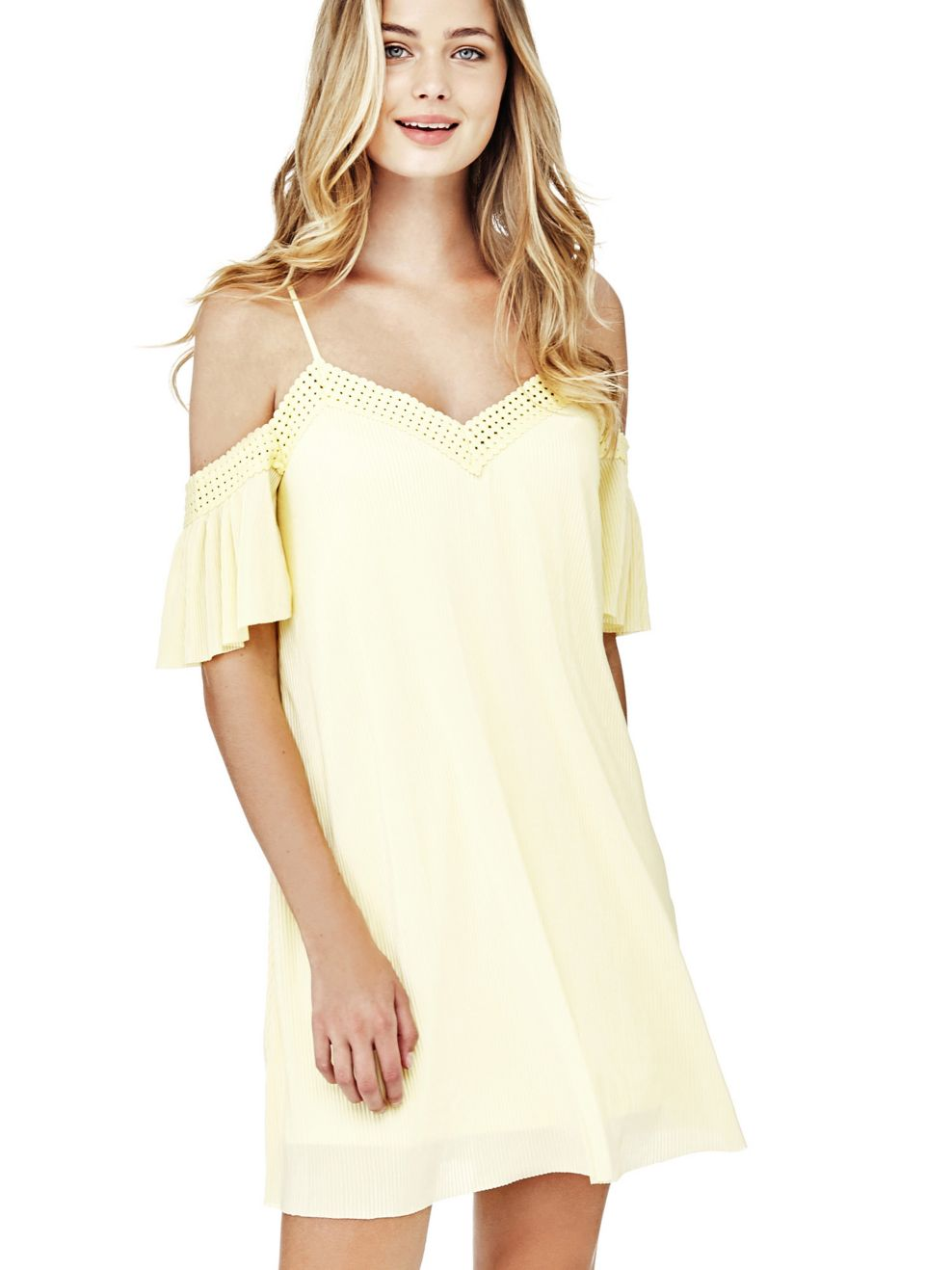 ROBE EPAULES DENUDEES Guess - Robe Femme Guess