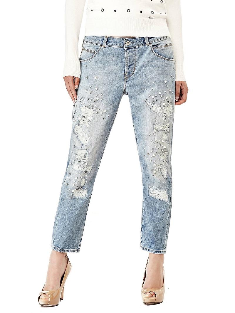 Jean fusele applications de perles guess jeans femme - Vente privee de marque pas cher ...