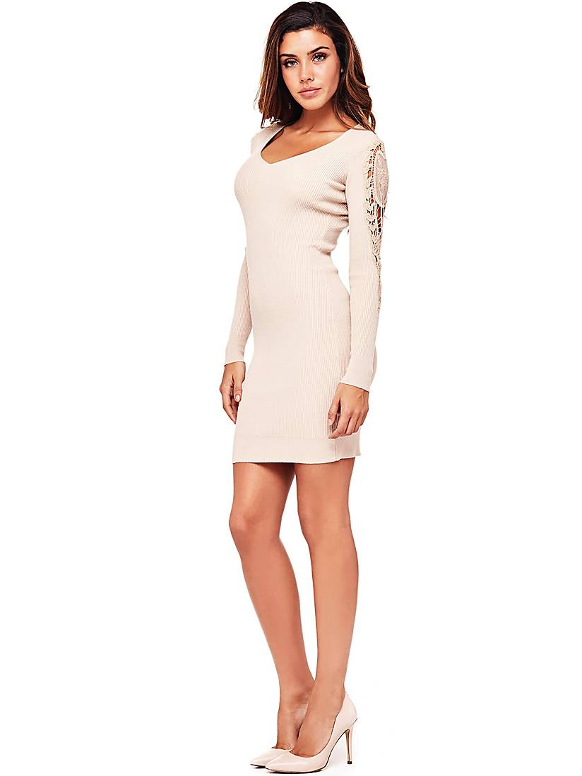 ROBE MANCHES DENTELLE Guess - Robe Femme Guess