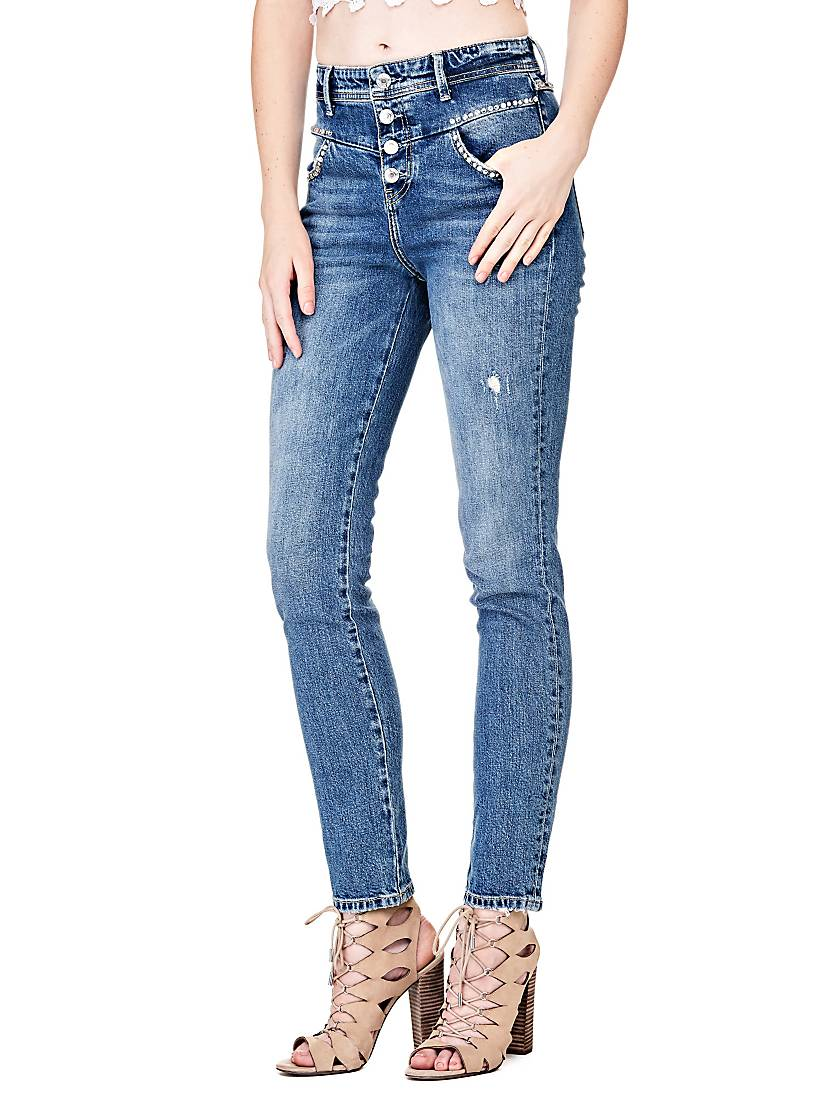 JEAN MULTI-BOUTONS STRASS Guess