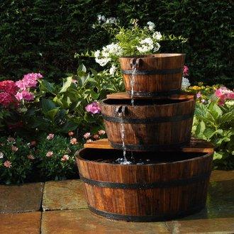 Fontaine de jardin 3 tonneaux en cascade edinburgh ubbink for Fontaine de jardin pas cher