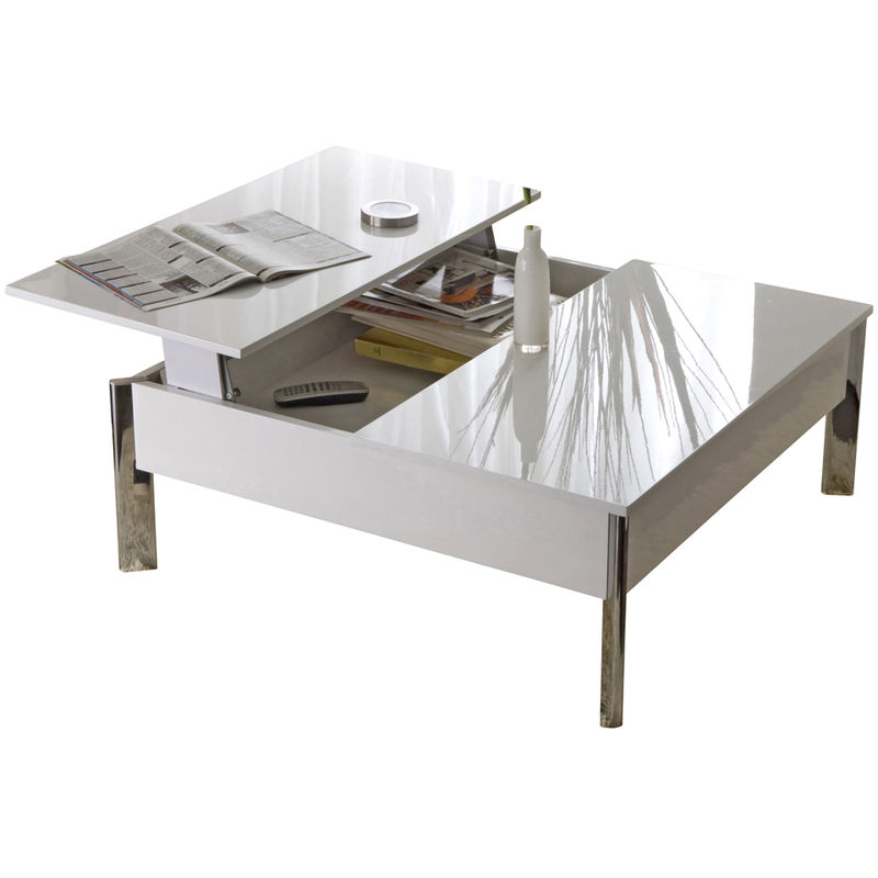 Table basse up down blanc table basse auchan ventes for Table basse up and down
