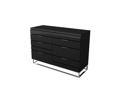 promo commode conforama commode 6 tiroirs laqu gordon. Black Bedroom Furniture Sets. Home Design Ideas