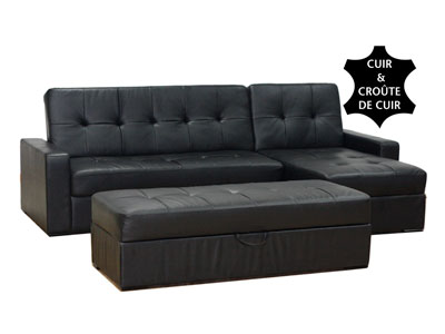 canap conforama canap convertible et r versible en cuir wendy coffre amovible pour. Black Bedroom Furniture Sets. Home Design Ideas