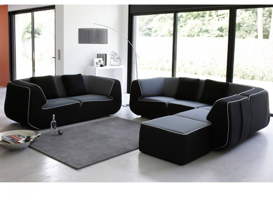 canap vente unique canap s modulables tissu bump. Black Bedroom Furniture Sets. Home Design Ideas