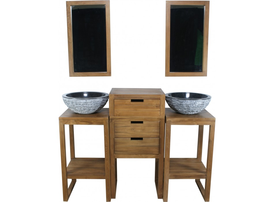 soldes vente unique ensemble de salle de bain kyoto en teck prix 399 00 euros ventes pas. Black Bedroom Furniture Sets. Home Design Ideas
