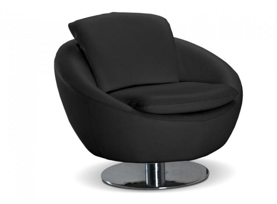 Fauteuil vente unique fauteuil cuir sup rieur gaby noir prix 469 00 euros - Fauteuil main noir pas cher ...