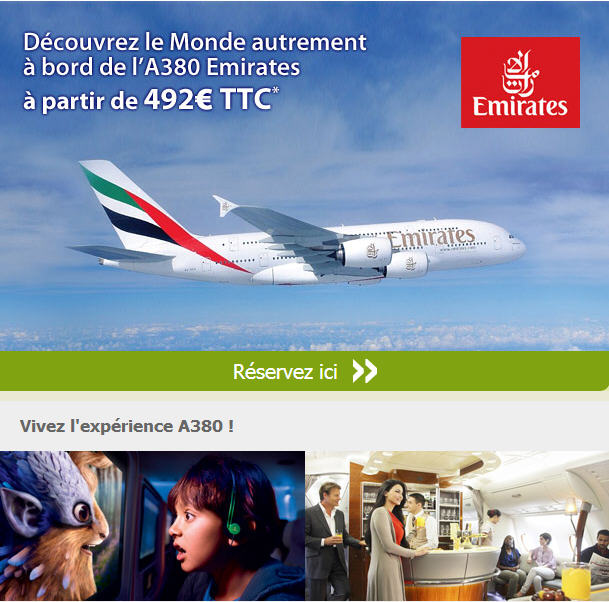 Vol A380 Emirates