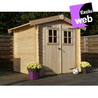 abri de jardin alinea abri de jardin en bois brut blokhut 3m ventes pas. Black Bedroom Furniture Sets. Home Design Ideas
