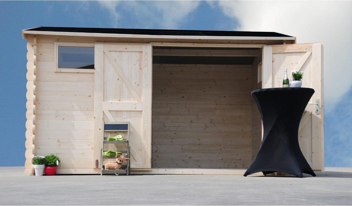 abris bois avec auvent amol pas cher abri de. Black Bedroom Furniture Sets. Home Design Ideas