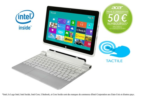 tablette darty tablette tactile acer iconia w510 64 w8 ventes pas