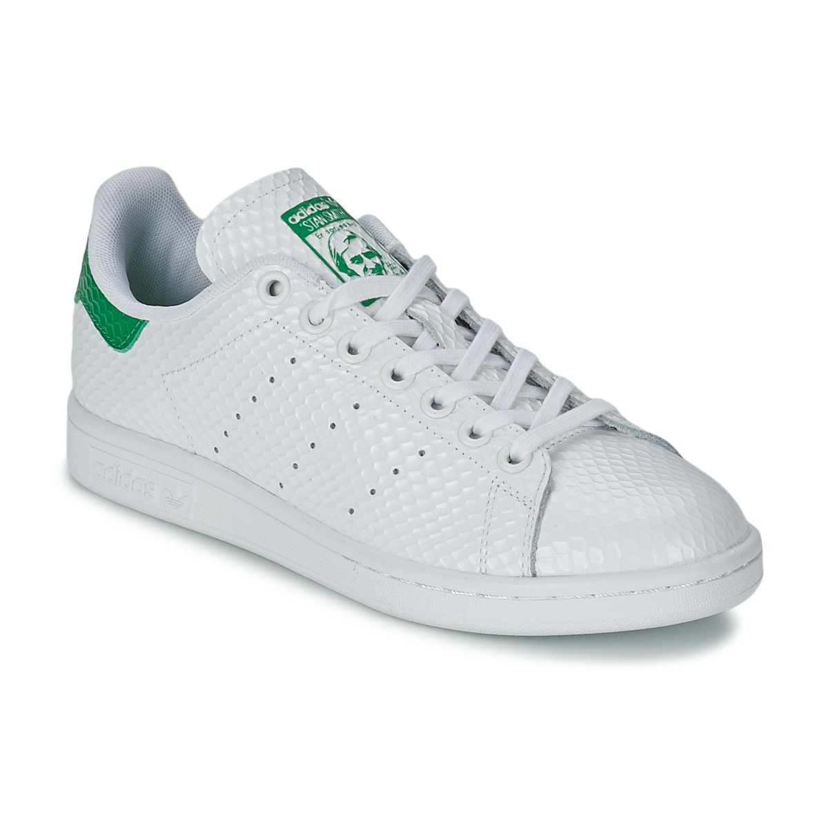 7ce318a58984d7 Baskets basses Adidas Originals STAN SMITH W Blanc - Baskets Femme Spartoo