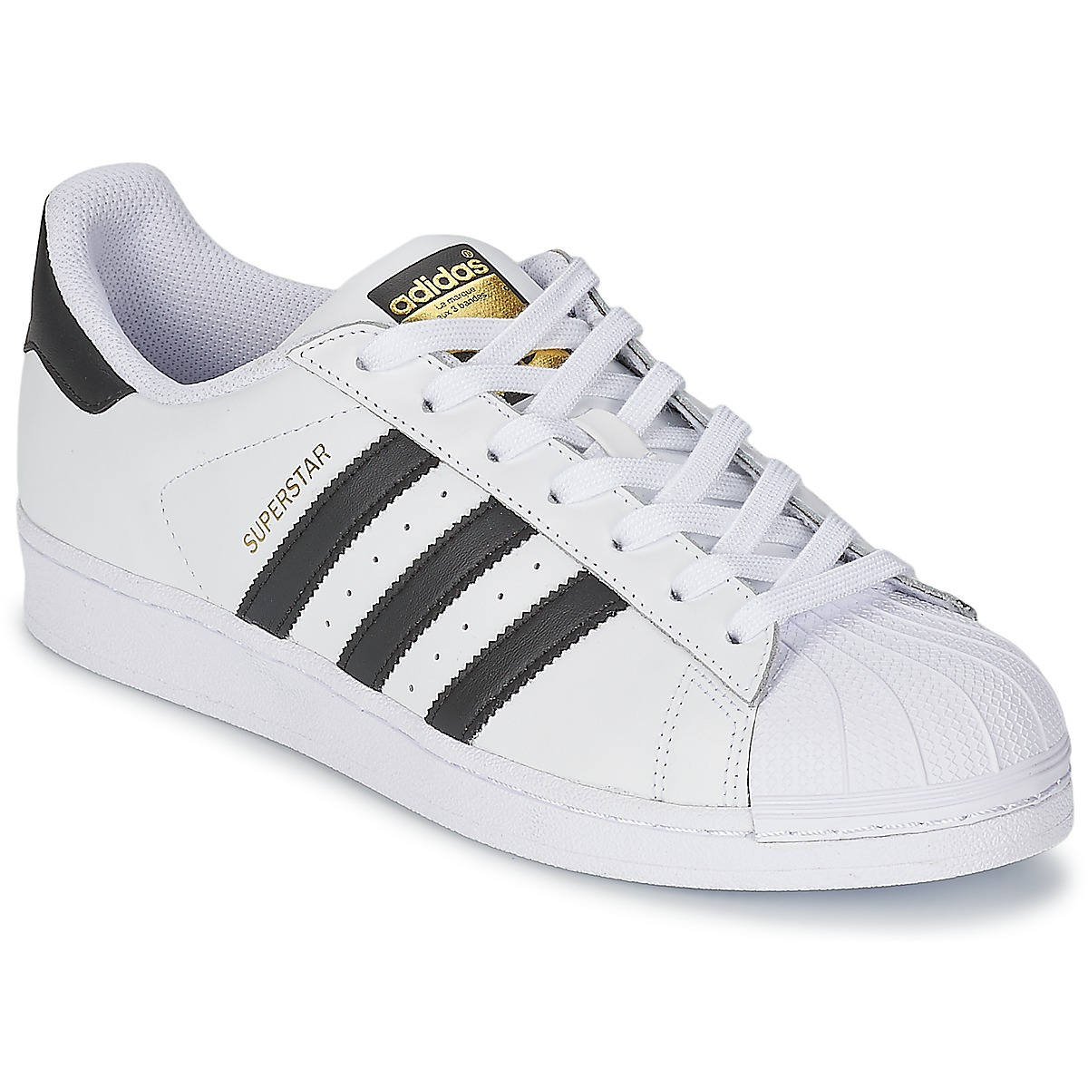 baskets basses adidas originals superstar blanc noir baskets femme spartoo ventes pas. Black Bedroom Furniture Sets. Home Design Ideas