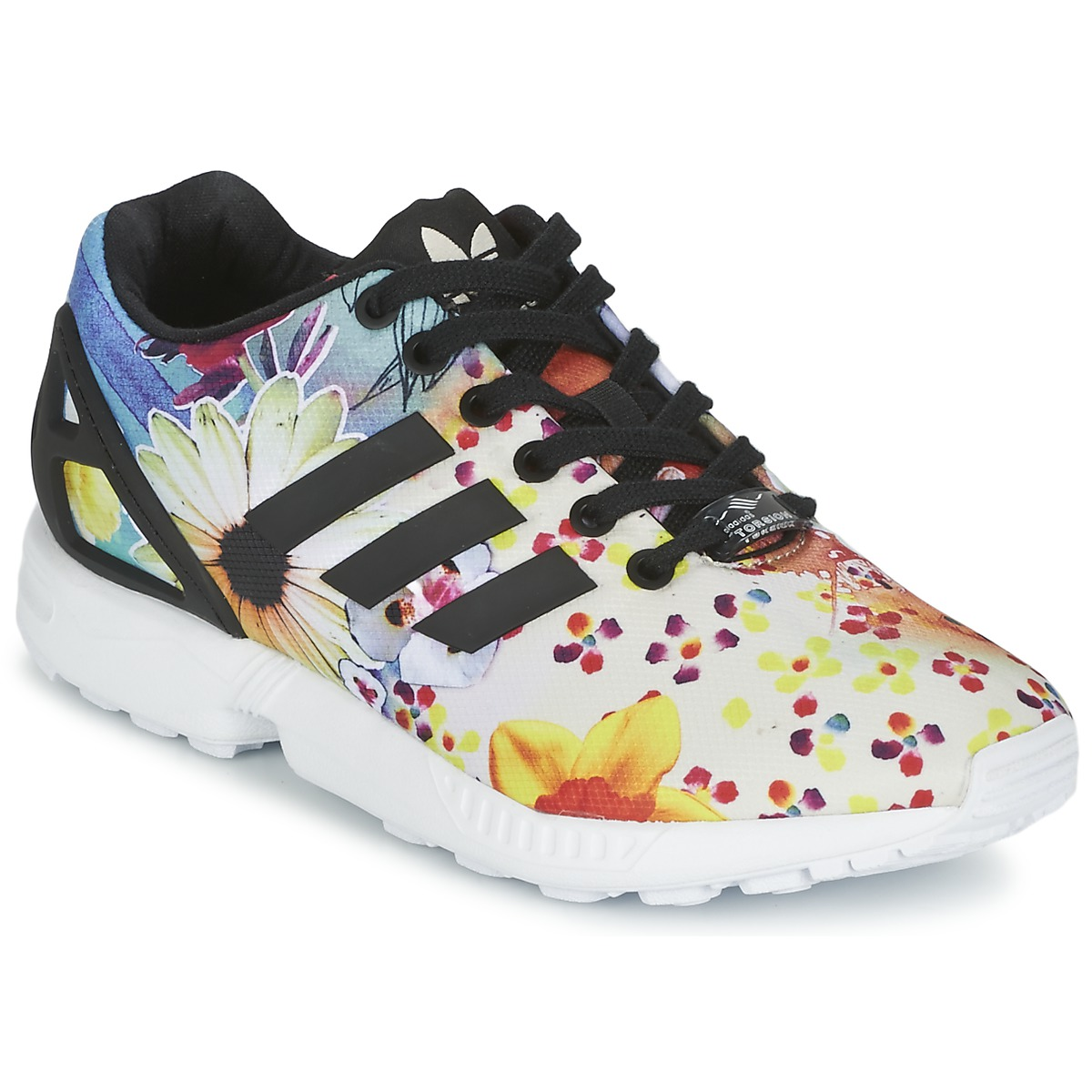 baskets adidas originals zx flux w multicolore baskets femme spartoo ventes pas. Black Bedroom Furniture Sets. Home Design Ideas
