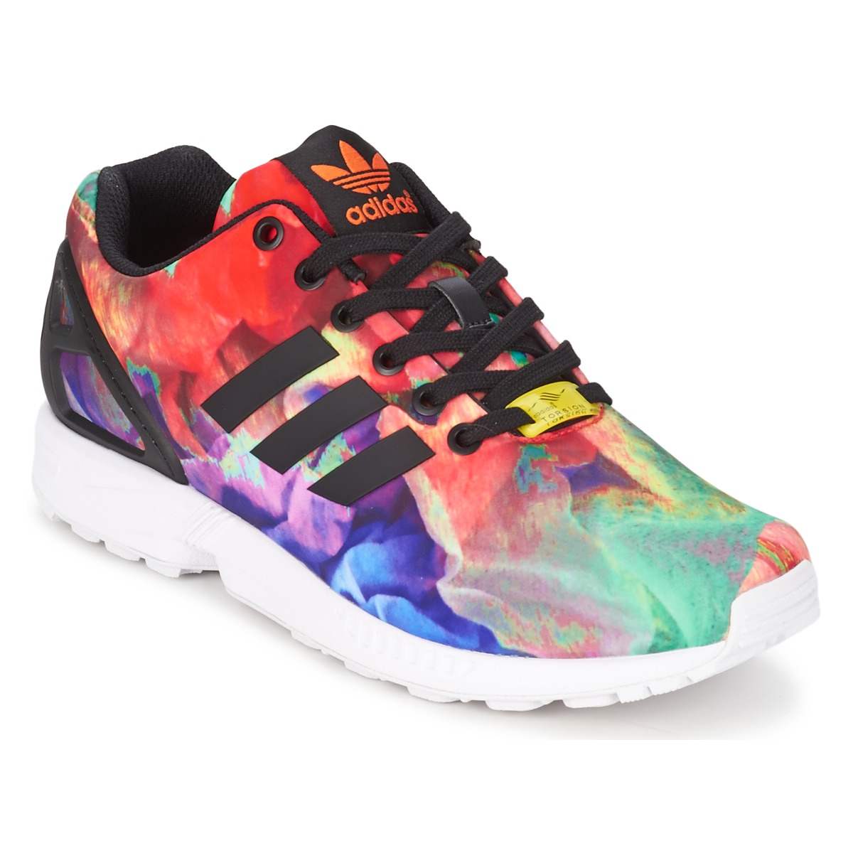 baskets basses adidas originals zx flux w multicolore baskets spartoo ventes pas. Black Bedroom Furniture Sets. Home Design Ideas