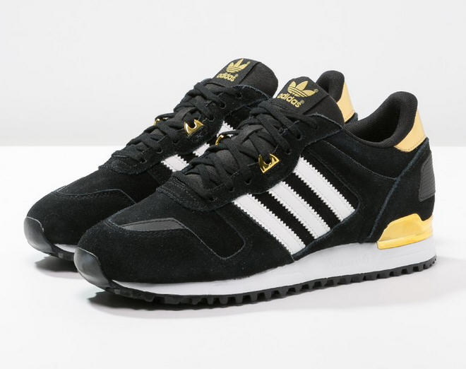 Adidas Originals ZX 700 Baskets basses core black/white/gold