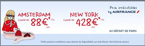 Tarif Air France Lastminute