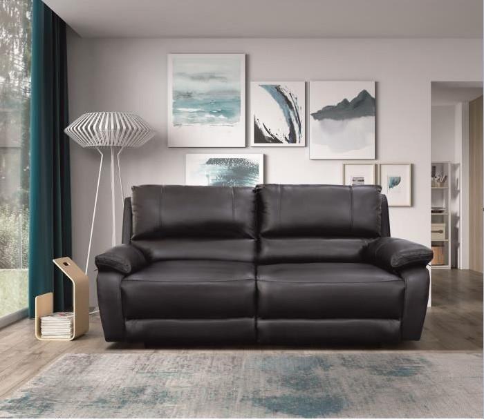 ALFRED Canapé de relaxation électrique 3 places en Cuir et simili noir - Cdiscount