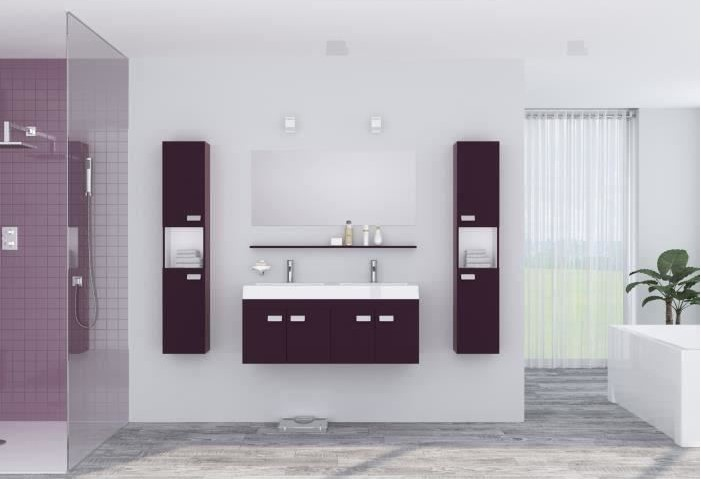 Alpos ensemble salle de bain double vasque pas cher - Ensemble de salle de bain pas cher ...