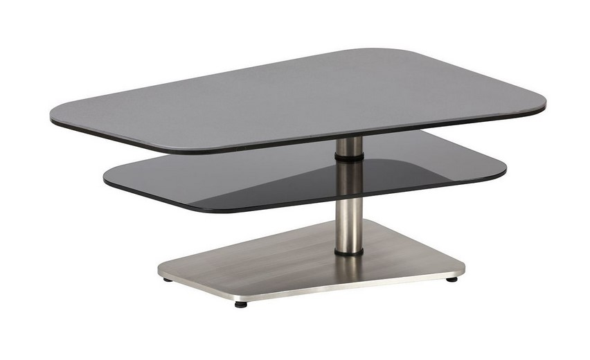 Altobuy Typhaine Table Basse Moderne Gris