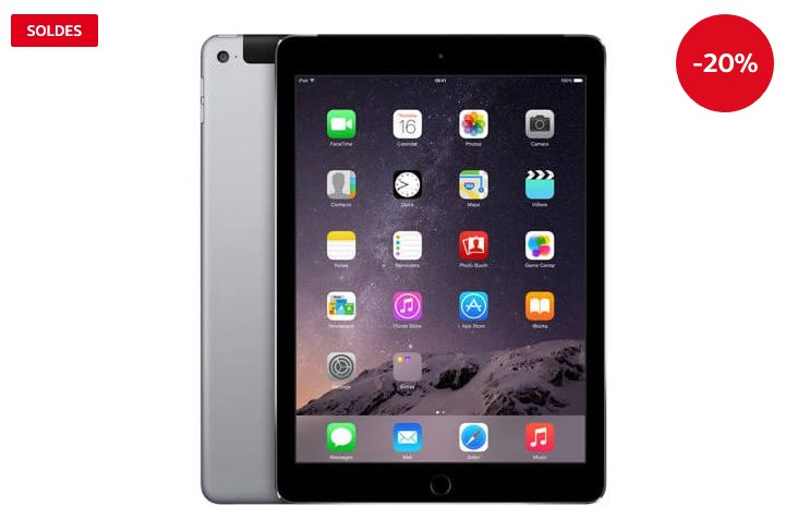 APPLE Tablette tactile Ipad Air 2 Lagoona Reconditionné Grade A Apple Wi-Fi + Cellular 16 Go Grey