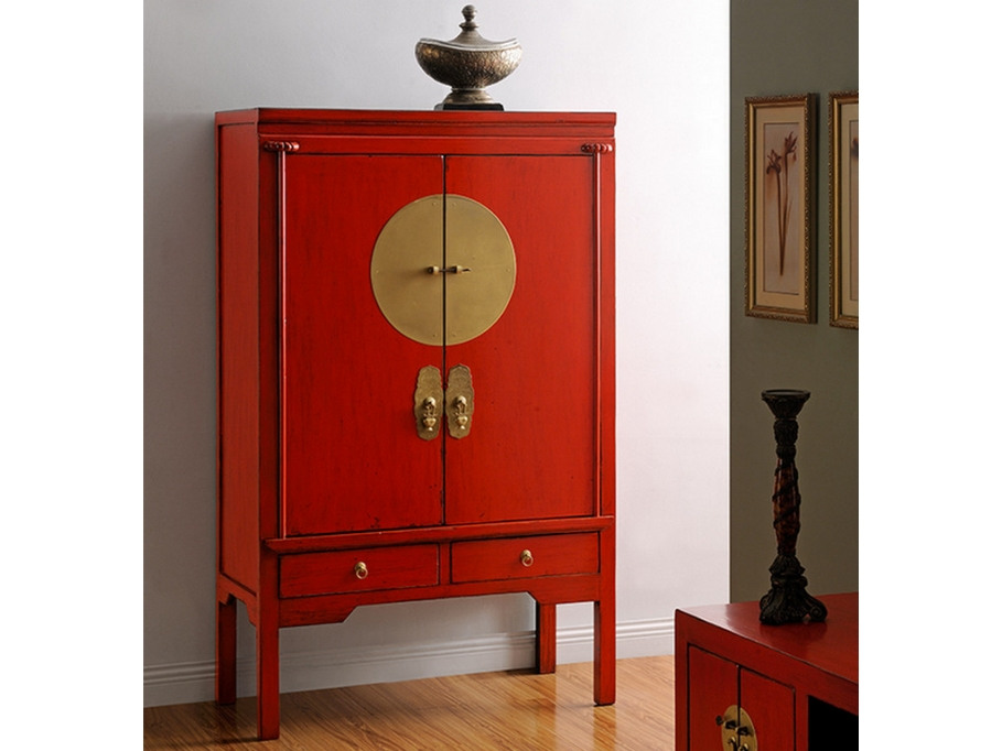 armoire nantong 2 portes 2 tiroirs cm rouge vente unique ventes pas. Black Bedroom Furniture Sets. Home Design Ideas