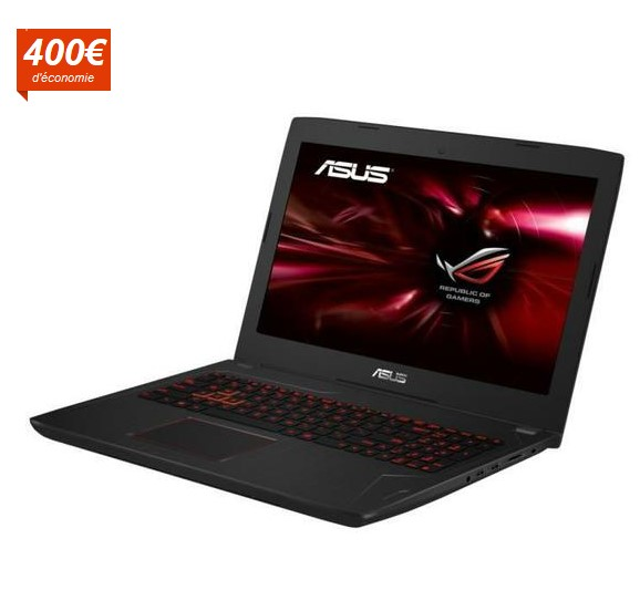 asus rog pc gamer fx502vm dm347t pas cher ordinateur. Black Bedroom Furniture Sets. Home Design Ideas