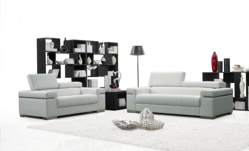 Salon complet achatdesign salon cuir blanc avalon prix 1 for Salon complet blanc