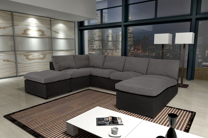 modern sofa canap avanti 8 places modulable canap rue. Black Bedroom Furniture Sets. Home Design Ideas