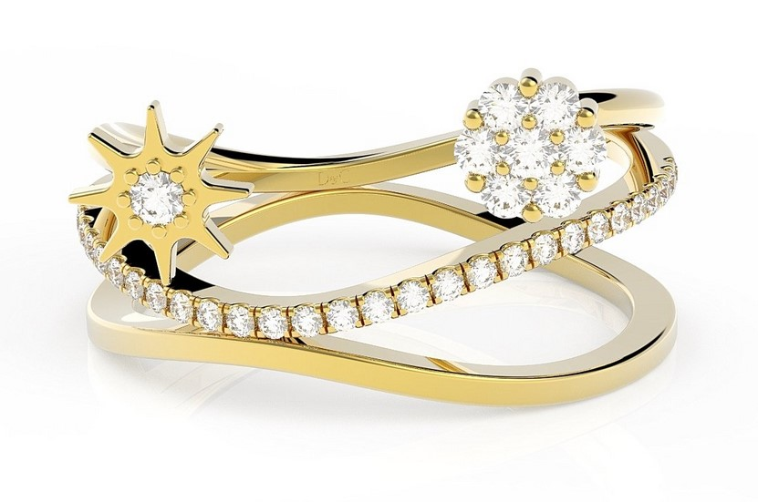 Bague or et diamant Alba de 0.22 carats or jaune