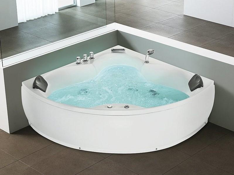 Baignoire d'angle baignoire balnéo / whirlpool Senado hydromassage & chromothérapie - ManoMano