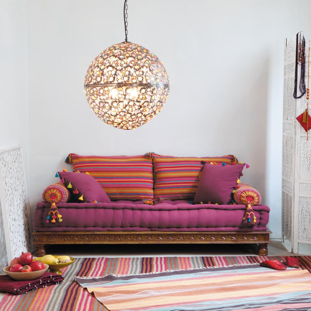 Banquette indienne 2/3 places Pondichéry en coton multicolore - Maisons du Monde