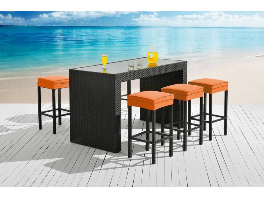 bar et 6 tabourets de jardin salina bar de jardin vente unique ventes pas. Black Bedroom Furniture Sets. Home Design Ideas