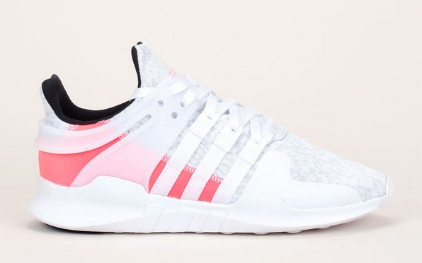 Adidas Originals Baskets bi-matière blanc/rose fluo EQT - Baskets Femme Monshowroom