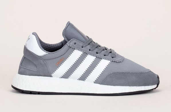 Adidas Originals Baskets Iniki Runner bi-matière gris/blanc détails cuir nubuck - Baskets Femme Monshowroom