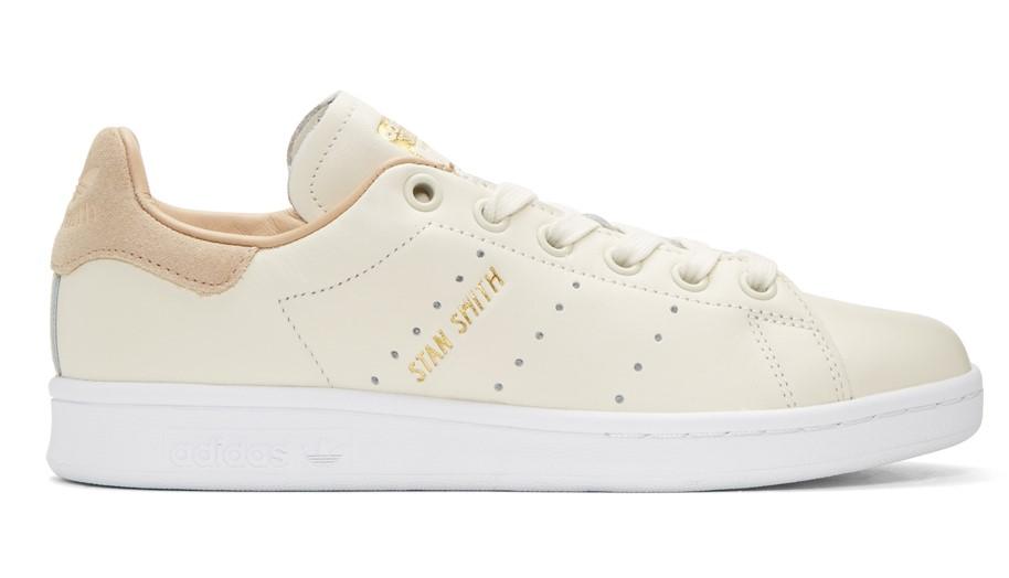 Soldes Baskets Femme SSENSE - Adidas Originals Baskets blanc cassé Stan Smith Premium