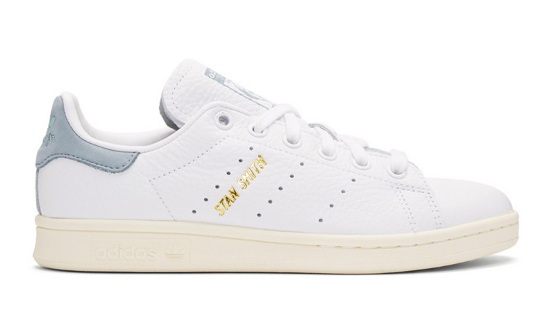 Adidas Originals x Pharrell Williams Baskets Stan Smith blanches et bleues