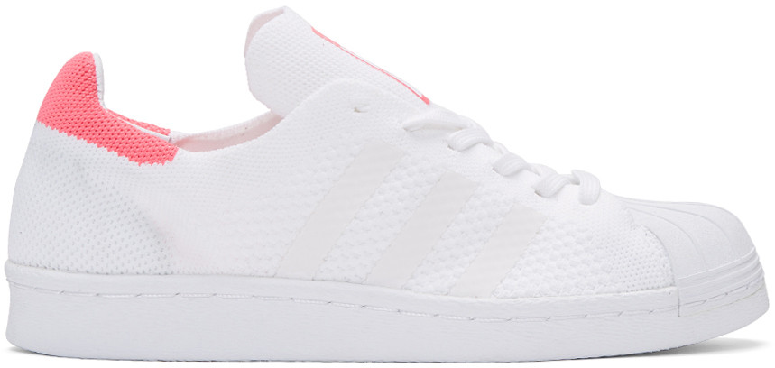 Adidas Originals Baskets blanches et roses Superstar 80's PK