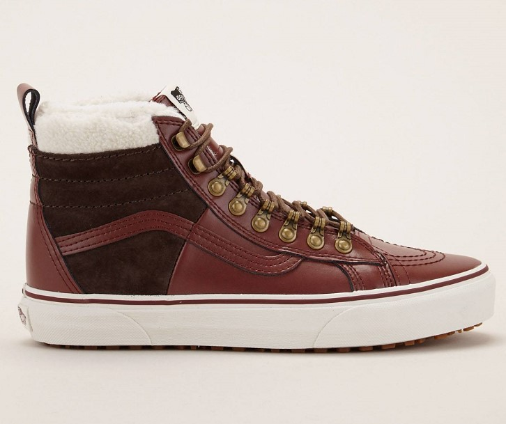 Vans Baskets en cuir SK8-HI 46 MTE DX bordeaux - Monshowroom