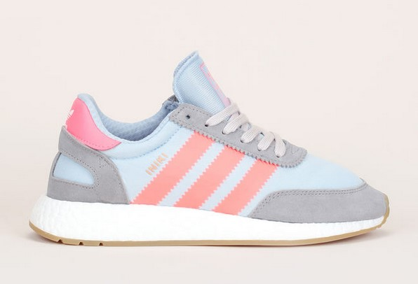 Adidas Originals Baskets Iniki multi-matière bleu/orange fluo - Baskets Femme Monshowroom