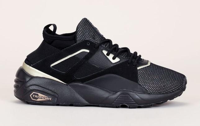 Baskets noires Trinomic Bog Sock Reset Metallic Puma - Baskets Femme Monshowroom